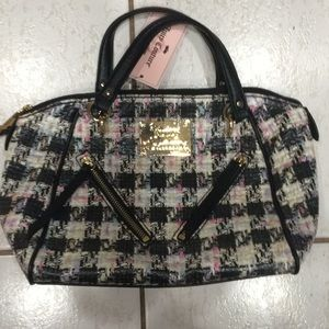 Juicy Couture checkered satchel
